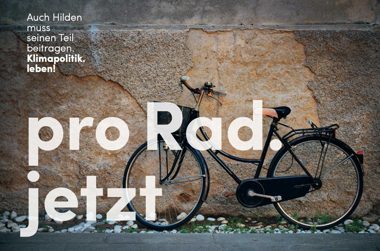 """""""Pro Rad"""" am 02.11.2019 von 10-13 Uhr in der Fußgängerzone Hilden"""